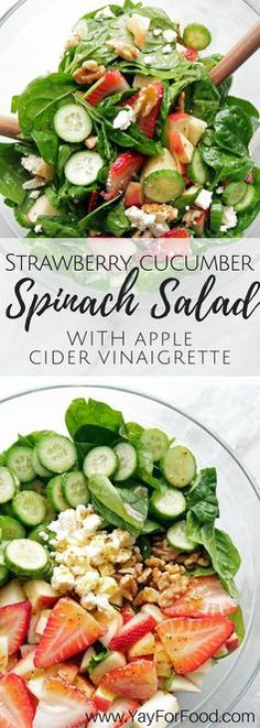 A healthy and fresh spring salad that is filling enough to be a meal or a great side dish. A homemade apple cider vinaigrette brings this flavourful salad together! vegetarian | gluten-free
