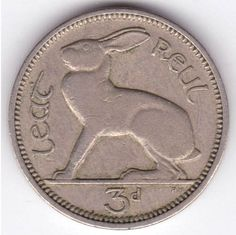 Ireland 3 Pence - Rabbit coin