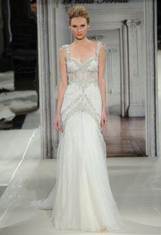 pnina tornai dress with floral sleeves   Pnina Tornai Spring 2014 Wedding Dresses
