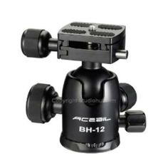This is our Acebil BH-12 36mm Ball Head for Folding Tripod. It has a 26.4 lbs load capacity with QR.