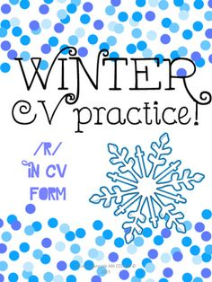 This is a super fun winter themed activity that targets the /r/ sound in simple CV syllables.2 variations of the worksheet are included: a black and white, and color version of the worksheet that features CV syllables with /r/ in the initial position.Thanks for looking!**Dont forget to rate my product to get some TPT credit!!**