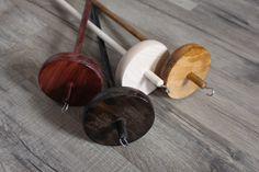 Anfänger Kopfspindel klein mit Anleitung | Einfache Holzspindeln | Handspindeln | Regenbogenwolle