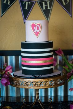 A fabulous forty layer cake!
