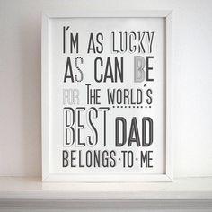 'world's best dad' print by karin Åkesson   notonthehighstreet.com