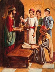 Daniel and his friends refuse the king's food | Biblical Images
