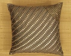 Decorative Throw Pillow Cushion Cover Sequin Tree Motif Embroidery Couch Toss Sofa Pillow Accent Pillow Available in All Sizes And Colors