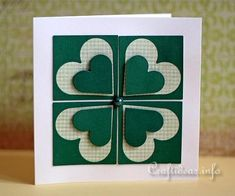 Wish a special someone good luck for St. Patrick's Day with this beautiful handmade card!