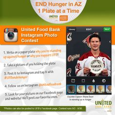 Why are YOU standing up against hunger this September? Take part in our Instagram Photo Contest & show us! #UFBendshunger #HungerAction Month