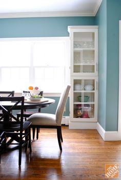 {DIY} Custom Glass Cabinet Doors - The Chronicles of Home Glass Front Cabinets, Glass Cabinet Doors, Glass Doors, Diy Projects Plans, Home Projects, Custom Glass, Ana White, Home Kitchens, Diy Furniture
