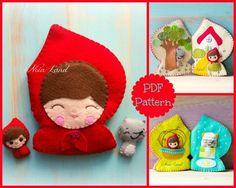 Red riding hood activity book. Soft book por Noialand en Etsy