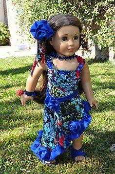 "6 PC Hawaiian Style Outfit 18"" American Girl Kanani Handmade OOAK Luminaria | eBay"