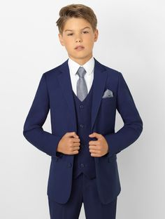 Shop boys navy suit Monaco at Roco. Boys wedding navy suit with free UK delivery & 30 day returns. Boys First Communion Outfit, Communion Suits For Boys, Boys Wedding Suits, Wedding With Kids, Wedding Men, Party Wedding, Wedding Ceremony, Wedding Venues, Boys Navy Suit