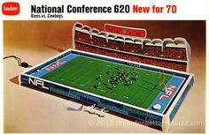 Electric Football Christmas memories...from 1970 the Tudor NFC 620 model with the Rams and Cowboys