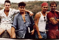 Johnny en el set de Platoon.