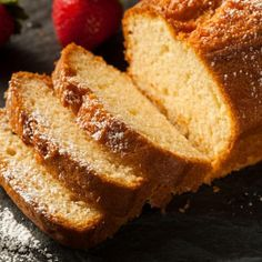 """Sandkuchen is a classic German coffee cake. It is called Sandkuchen (literally """"sand cake"""") because of its color that reminds of sand. This cake is very easy to Sand Cake, Pound Cake Recipes, Bread Recipes, Baking Recipes, Food Cakes, German Coffee Cake, Lemon Loaf Cake, German Baking, Baking Secrets"""