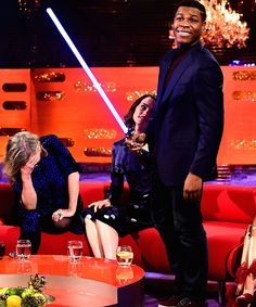 Carrie Fisher, Daisy Ridley and John Boyega being the delights they are on the Graham Norton Show