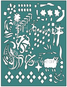 Fun, new craft stencil design in my Etsy shop. This is an original design and won't be found anywhere else! Use it for your mixed media projects, art journals, scrapbooking, card making, tags, and more!