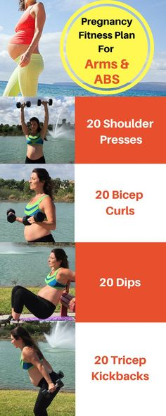 Pregnancy Fitness Plan for arms and abs. Great at home workout to help tone the arms and strengthen the ABS while pregnant. ** To view further for this article, visit the image link. #PregnancyDiet