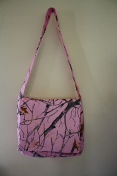 bbe6c5726e Items similar to Pink Camo Over The Body Messenger Bag Purse 13x13 on Etsy