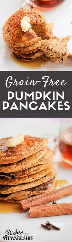 Pumpkin Pancakes (Grain-Free) | Recipe | Pumpkin Pancakes, Pancakes ...