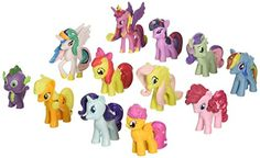 My Little Pony Toys Figurines Playset, Multi, 12 Piece - 12 piece set my little pony toys figurines playset. Perfect for cake or cupcake toppers. Brand new, fresh out of the package, mint condition and never played with. Birthday Party Games For Kids, My Little Pony Birthday Party, Girl Birthday, Cheap Toys, Fun Crafts For Kids, Rainbow Dash, Baby Toys, Amc Gremlin, Cupcake Toppers
