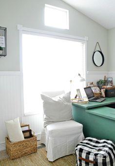Shared Home Office Ideas MyFabulessLife.com
