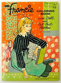 Whitman Francie Coloring Book with Paper by AttysSproutVintage