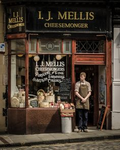 I.J Mellis Cheesemonger, Stockbridge Market, Edinburgh, Scotland