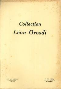 Collection De Feu Leon Orosdi - Catalogue: M F Lair-Dubreuil;