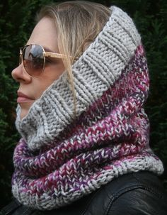 A personal favourite from my Etsy shop https://www.etsy.com/uk/listing/491679445/head-scarf-womens-knit-snood-hooded-cowl #etsy #falloutfits #fallfashion