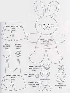 Felt Bunny pattern. Adorable!