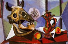 Still life with bull's skull - Pablo Picasso - WikiPaintings.org