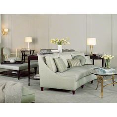 Baker Furniture : Barbara Barry : Browse Products.  Armless sofa may make the room more inviting.