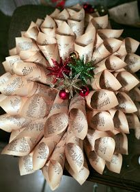 book wreath - with tutorial