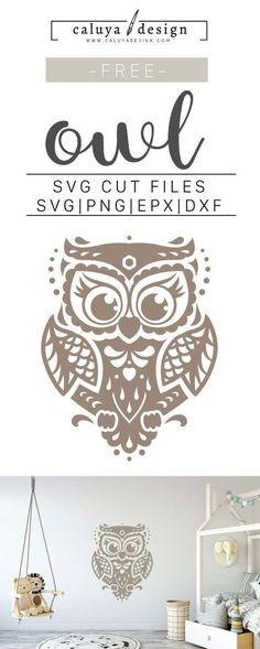 Free Free Owl SVG, PNG, EPS & DXF by Caluya Design. Compatible with Cameo Silhouette, Cricut and other major cutting machines!Perfect for your DIY projects, Giveaway and personalized gift. Planner Stickers, Clipart, Cricut Vinyl, Vinyl Decals, Wall Stickers, Cricut Ideas, Ideas Scrapbook, Scrapbooking Layouts, Travel Scrapbook