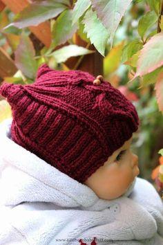 Baby Knitting Patterns Strickanleitung für Eulenmütze...
