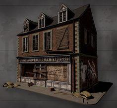 Carentan Store, Daniel Fern on ArtStation at https://www.artstation.com/artwork/aevLJ