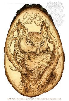 The Sentinel: Pyrography by pallanoph.deviantart.com