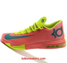 Nike KD VI 6 green red Kevin Durant Basketball shoes