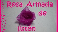 Rosa Armada de listón - DIY