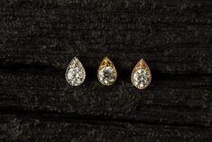 AAA CZ diamond in teardrop shape casting push in bio flexible tragus /forward helix / lip / medusa piercing Medusa Piercing Jewelry, Philtrum Piercing, Silver Casting, Crystal Lips, Forward Helix, Silver Prices, Blue Opal, Tattoos, Shape