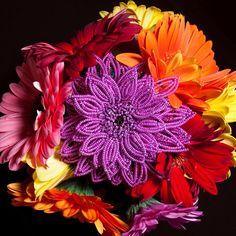 Beaded flowers in the wedding