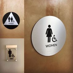 Different types of #restroomsigns for a new health center in Los Angeles! . . . #bathroom #bathroomdecor #bathroomsign #mensrestroom #womensrestroom #design #signs #signshop #signcompany #resource4signs #restroom #adasigns #interior #interiordecor #brushedaluminum #brushedmetal #decor #interiordesign #interiorsignage #braille #standoff #signage #losangeles #healthcenter #tessiecleveland #restroomdecor