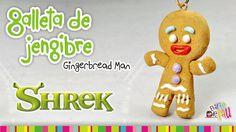 Gingerbread Man Cookie polymer clay tutorial / Galleta de gengibre de ar...