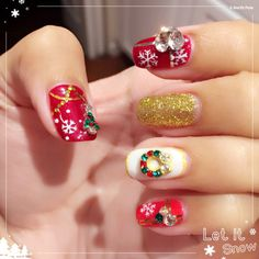 Christmas fancy gel nail