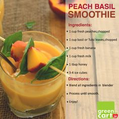 #Yummy #Peach Basil #Smoothie