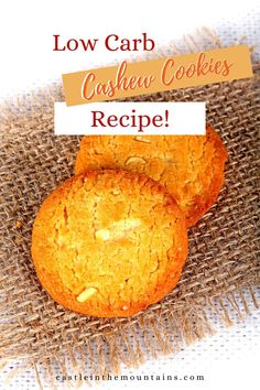 Buttery Low Carb Cashew Cookies- Amazing Cashew Cookies Recipe, Cookie Recipes, Types Of Pins, Recipe Please, No Carb Diets, Cornbread, Low Carb Recipes, Delish, Amazing