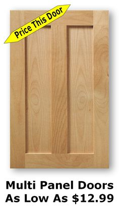 Unfinished Shaker Cabinet Doors As Low As $8.99 Reface Cabinet Doors, Cheap Cabinet Doors, Cabinet Doors Online, Unfinished Cabinet Doors, New Kitchen Cabinet Doors, Kitchen Cabinets Fronts, Unfinished Kitchen Cabinets, Shaker Cabinet Doors, Cabinet Door Hardware