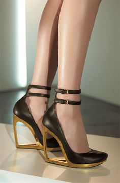 www.shoebytch.com: LANVIN Cutout Wedges...I like these cutout wedges a whole lot.