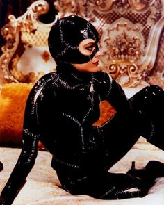 "Michelle Pfeiffer en el co-protagónico de ""Batman Returns""."